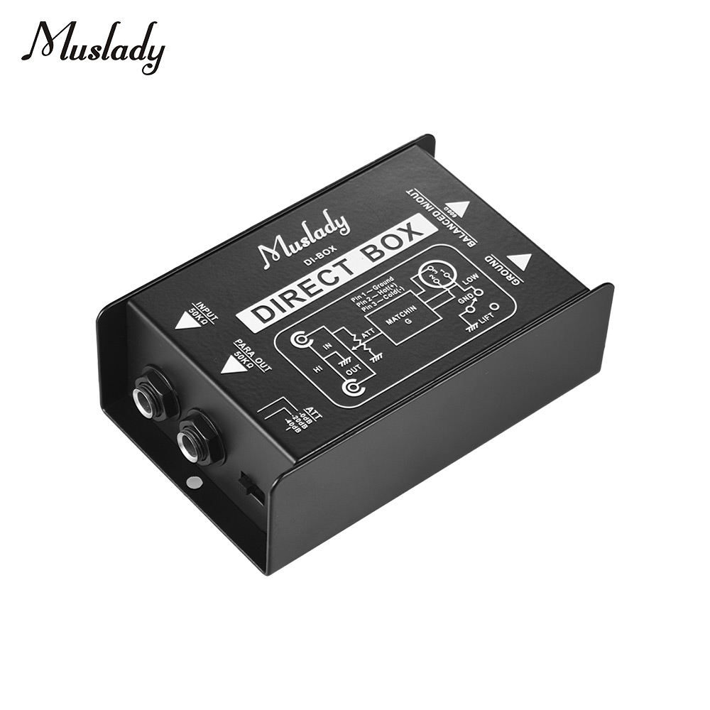 Muslady Single Channel DI Box Direct Injection Audio Box Signal Converter with XLR TRS Interfaces for Electric Guitar Bass Live-in Guitar Parts & Accessories from Sports & Entertainment