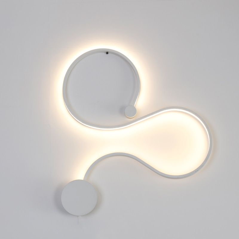 Modern minimalist creative wall lamp blackwhite led indoor living modern minimalist creative wall lamp blackwhite led indoor living room bedroom bedside wall lights ac96 265v sconce lampe deco in led indoor wall lamps aloadofball Image collections