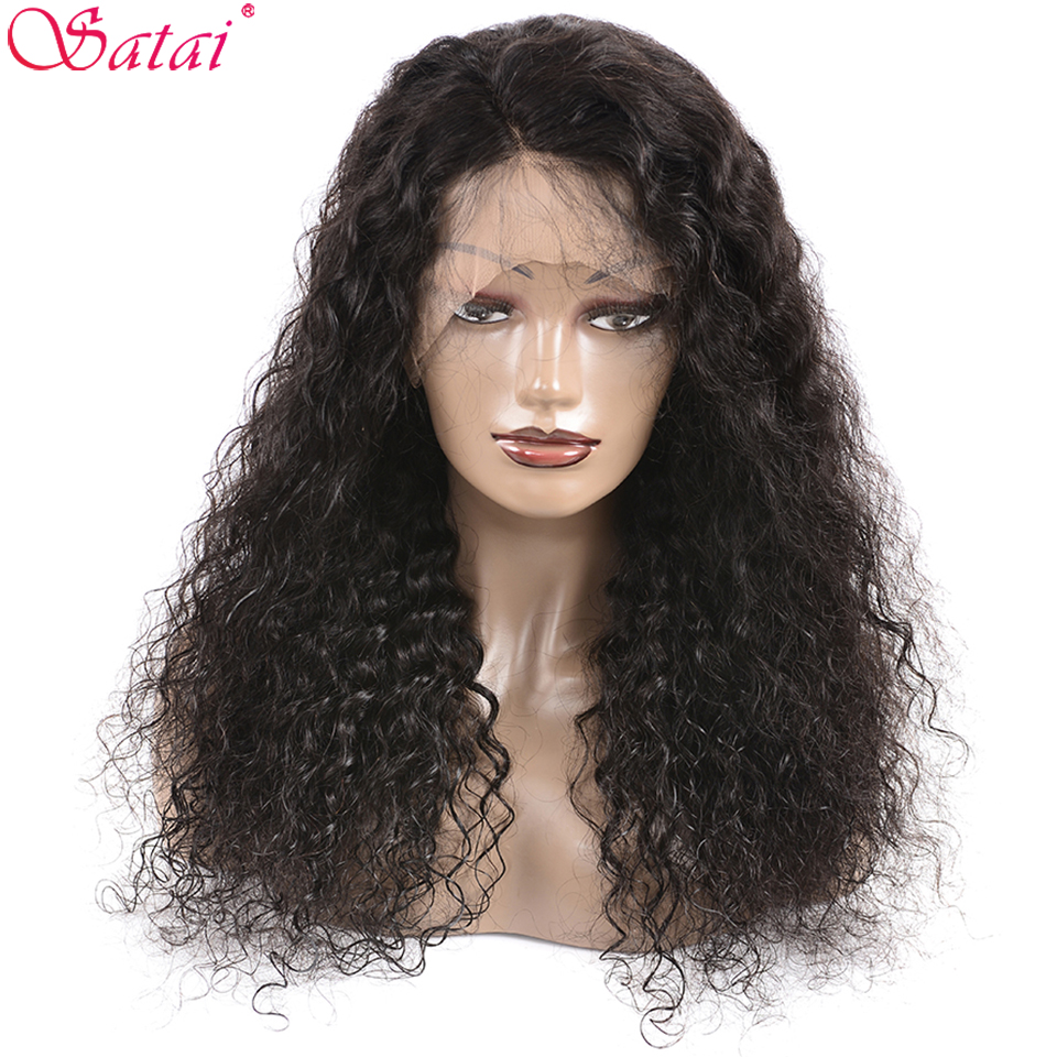 Lace Front Human Hair Wigs Water Wave Pre Plucked Hairline With Baby Hair Brazilian Remy Human Hair Wigs 13x4Lace Front Wig