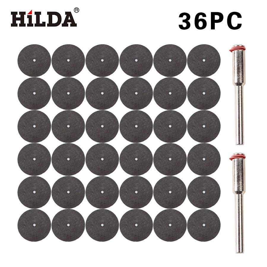 HILDA 36pcs Resin Cutting Disc Kit For Dremel Rotary Hobby Tool Bit Dremel Accessories Plus 2 Pcs Mandrel