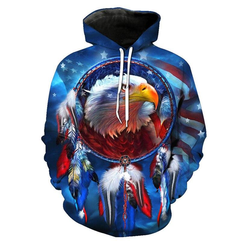 ONSEME Kühlen USA Flagge Adler 3D Pullover Männer/Frauen Vintage Religion Drucken Mit Kapuze Sweatshirt Tier Tiger Hoodie Tropfen schiff