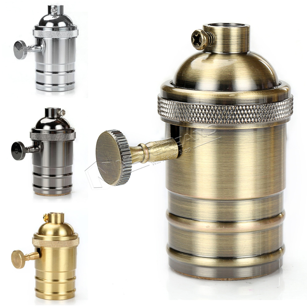 Vintage E27 Lampenfassung Loft Industriellen Stil Messing Socket Edison Fassung Basis Fr Anhnger Deckenleuchte