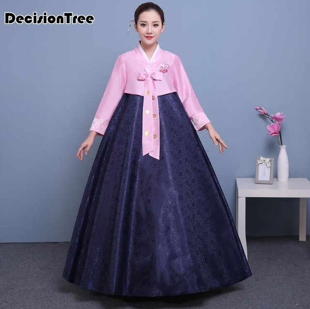 2d3b3c155511 2019 new cotton silk full sleeve japanese kimono yukata korean traditional  dress hanbok costume hanbok dress