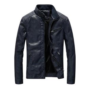 Image 4 - ฤดูใบไม้ผลิใหม่ผู้ชายหนังแจ็คเก็ตรถจักรยานยนต์ Pu Casual Slim Fit Coat Outwear Drop Shipping ABZ174