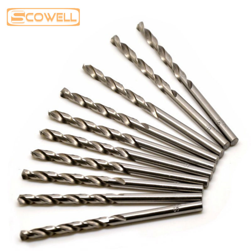 Choose From 2mm to 10.5mm HSS M2 fully ground straight shank twist drill bit for metaldrilling 10pcs/box DIN338 6542# drill Bits free shipping 1pc hss 6542 made cnc full grinded hss taper shank twist drill bit 17 5mm 228mm for steel