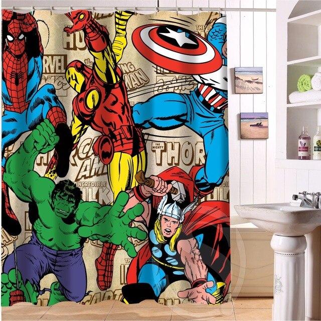 Изготовленный На Заказ фильма «Дэдпул»; рубашки с рисунком из аниме Марвел Халк & 6 Современная тканевая для душа Шторы ванная комната Водонепроницаемый Ванна Шторы LRM #825 # K19
