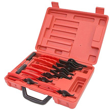 11 Pcs Circlip Snap Ring Plier Set Pliers External Internal Repair Kit Tackle Box for Car Truck Motorcycle Red