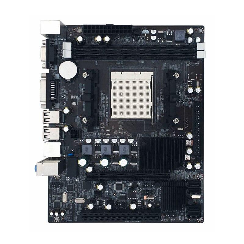 Nouveau 216*168mm De Bureau A780 Ordinateur Carte Mère 4 * SATA2.0 2DDR2 4 gb Ram PC Carte Mère Double Canal DVI VGA Suppotr Pour AMD AM2