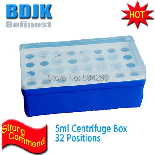 5ml Plastic Centrifugal <font><b>Box</b></font> 32 Positions Centrifuge Case Holder for Laboratory image