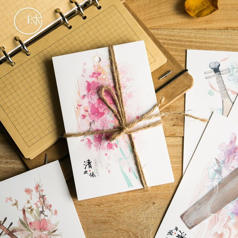 30pcs/lot Postcard set postcrossing China vintage greeting card Chinese style cute Kawaii birthday gift visit 30pcs in one postcard chinese ancient ink landscape painting christmas postcards greeting birthday message cards 10 2x14 2cm
