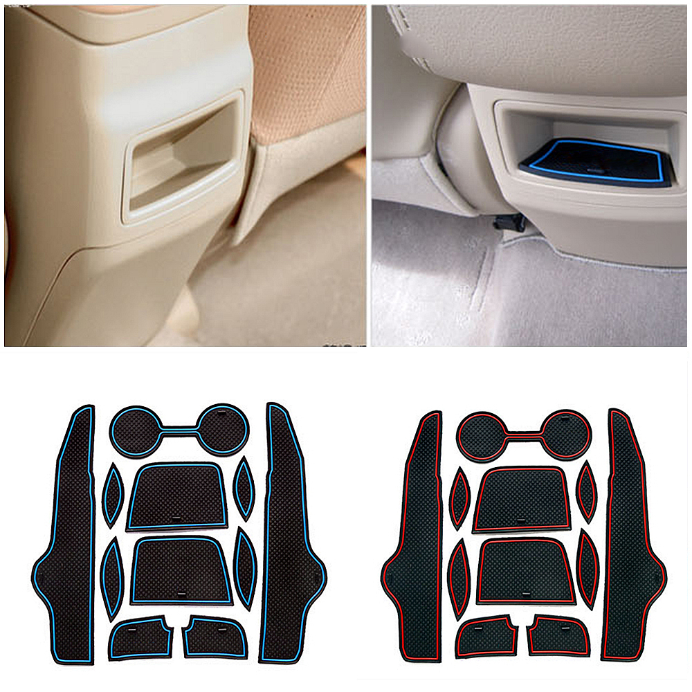 for Toyota Corolla 2007 2008 2009 2010 2011 2012 2013 Non-slip Rubber Cup Holder Sticker Gate Slot Pad Door Groove Mat styling стоимость