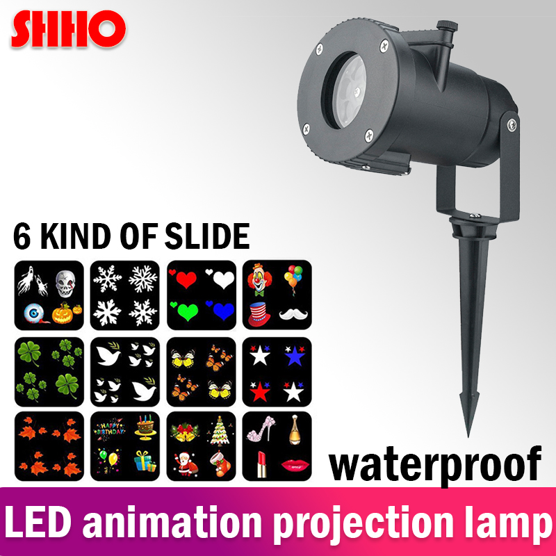 High quality remote control LED projector light 6 kinds animation pattern waterproof IP65 KTV party Christmas festival light in LED Modules from Lights Lighting