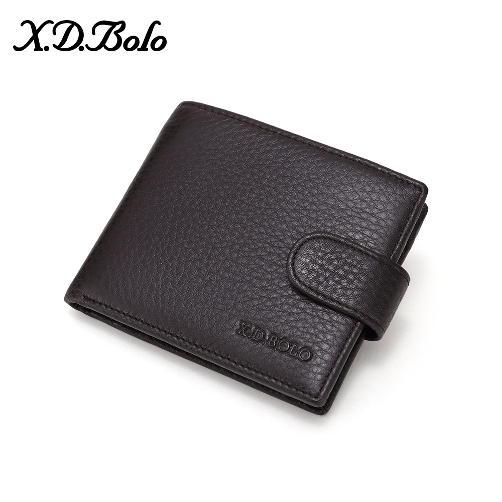 XDBOLO NEW Genuine Leather Mens Wallets Soft Leather Men Wallet Coin Pocket And Card Holder High Quality Purses For Male