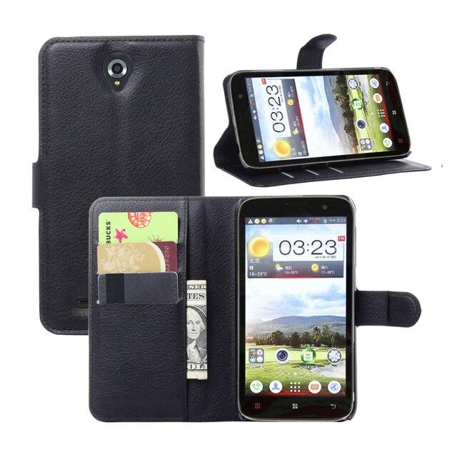 2016 De Luxe Portefeuille PU Etui En Cuir Pour Lenovo A850 Flip Phone Housse Protection