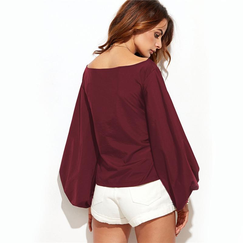 HTB1NlSNNVXXXXbAXpXXq6xXFXXXJ - Shirts Women Tops Long Sleeve Lantern Sleeve Blouse