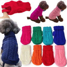 New Small Pet Dog Kitten Knitted Classic Turtleneck Jumper Clothes Puppy Cat Sweater Winte