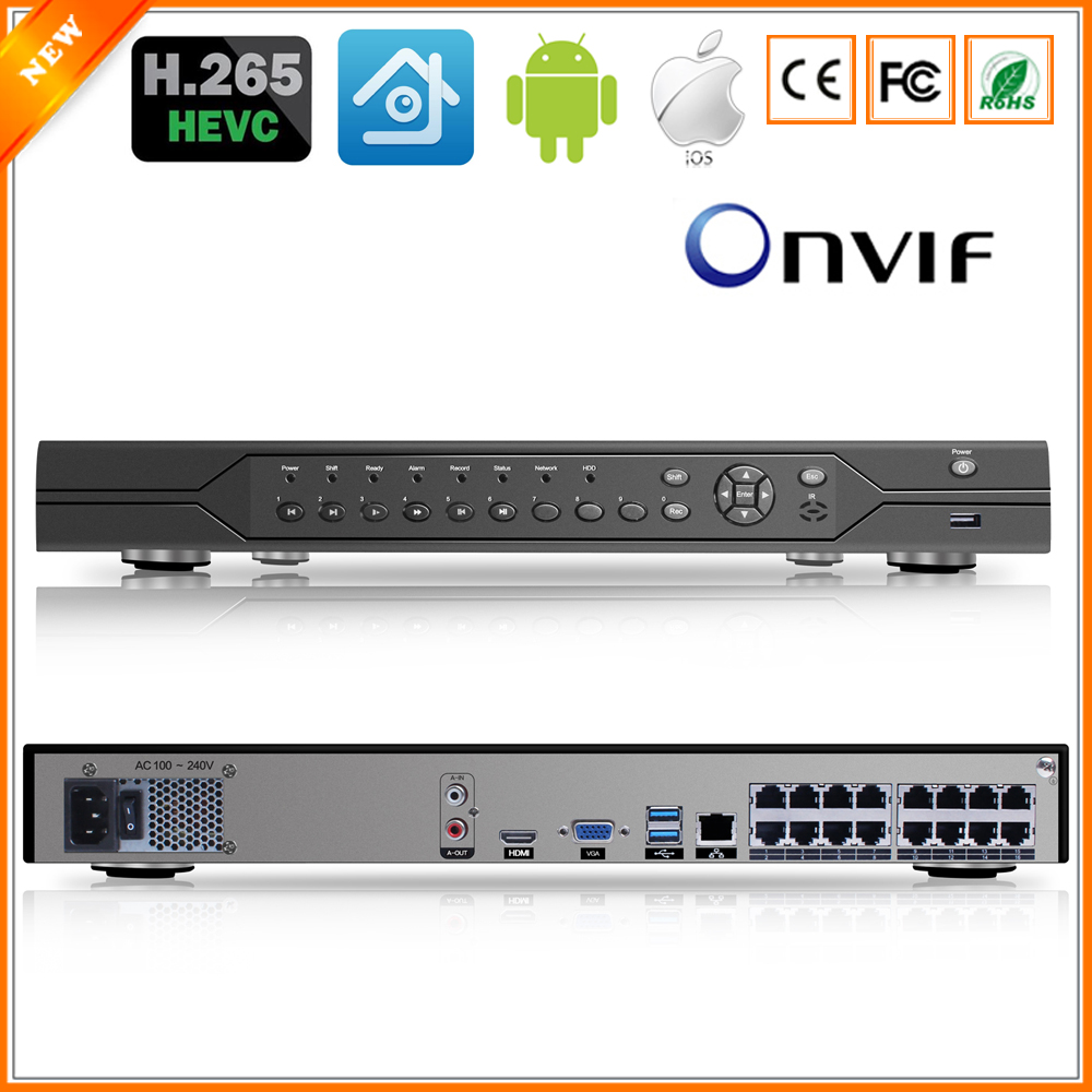BESDER H 265 16CH 4MP PoE NVR ONVIF P2P XMEye Security Network Video Recorder POE H