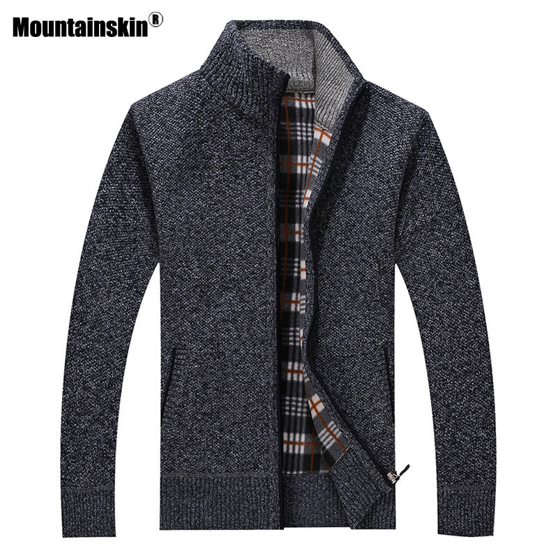 Mountainskin New Men's Sweaters Autumn Winter Warm Pullover Thick Cardigan Coats Mens Brand Clothing Male Casual Knitwear SA582 2