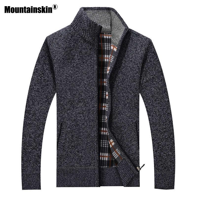 Mountainskin 新メンズセーター秋冬ウォームプルオーバー厚手のカーディガンコートメンズブランド服男性カジュアルニット SA582