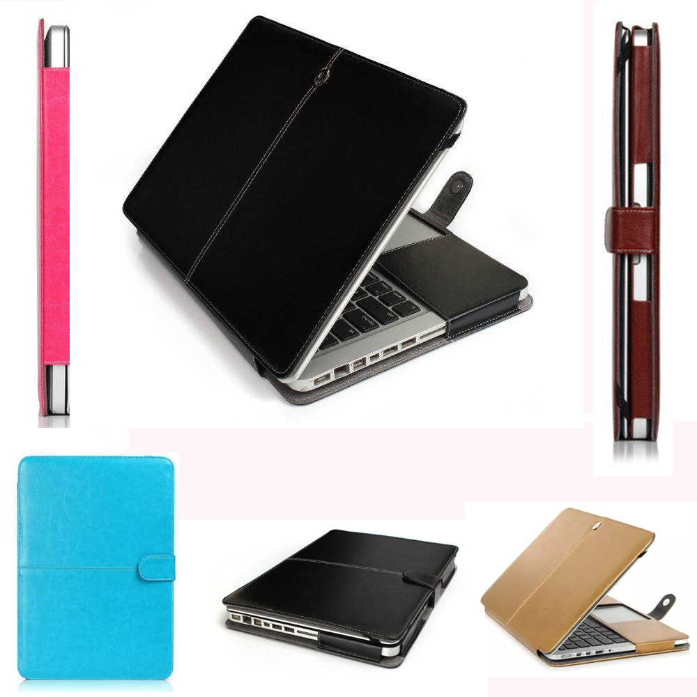Leather Laptop Case Sleeve Protector For Apple Macbook Air Pro 11 12 13 15