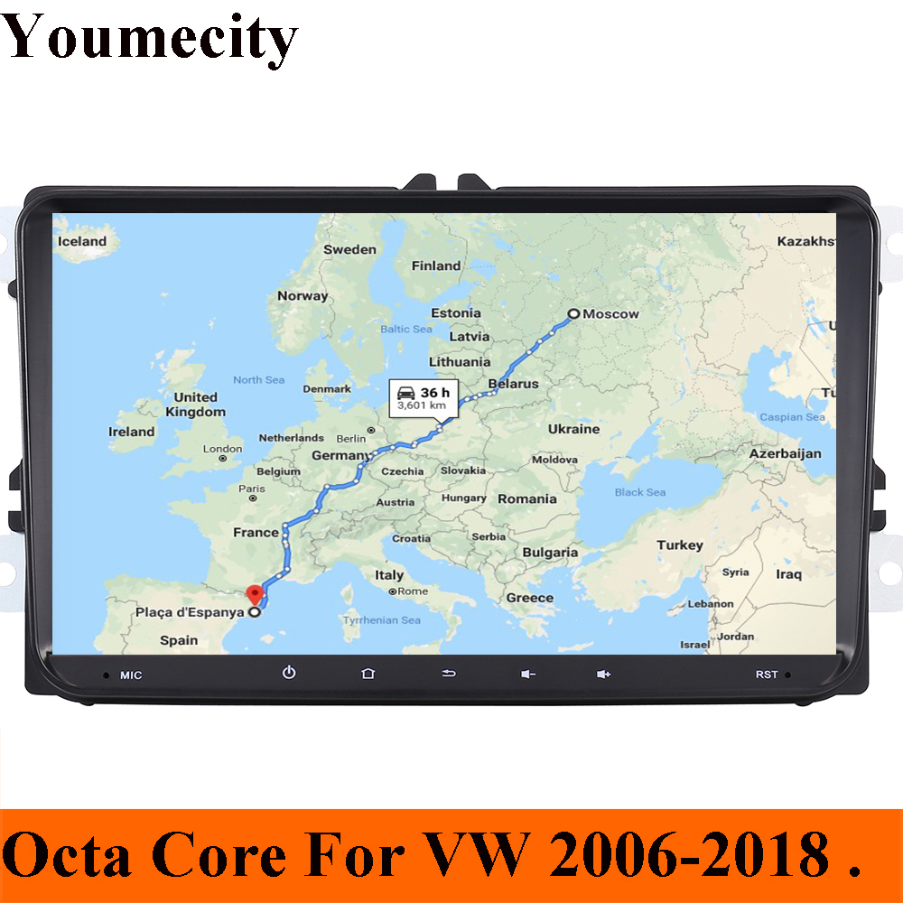 Youmecity Octa Core Car DVD Player Video for VW Volkswagen GOLF 5 6 POLO PASSAT JETTA