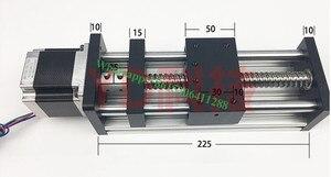 Tornillos de bola CNC GGP 1204 de alta precisión Mesa Deslizante carrera efectiva 100mm carril guía XYZ eje movimiento lineal + 1pc motor nema 17