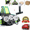 10000Lumens USB light 5 Mode 3 CREE XML T6 + 2 LED Headlight Headlamp Rechargeable Flashlight Head lights lamp+18650 battery