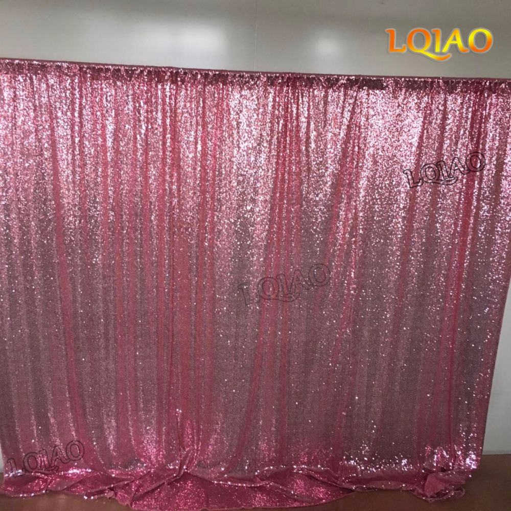 Pink Sequin Curtains Us 53 97 8x8ft Pink Gold Sequin Backdrop Photo Booth Curtain Shimmer Sequin Fabric Photography Wedding Image Decoration More Color Option In