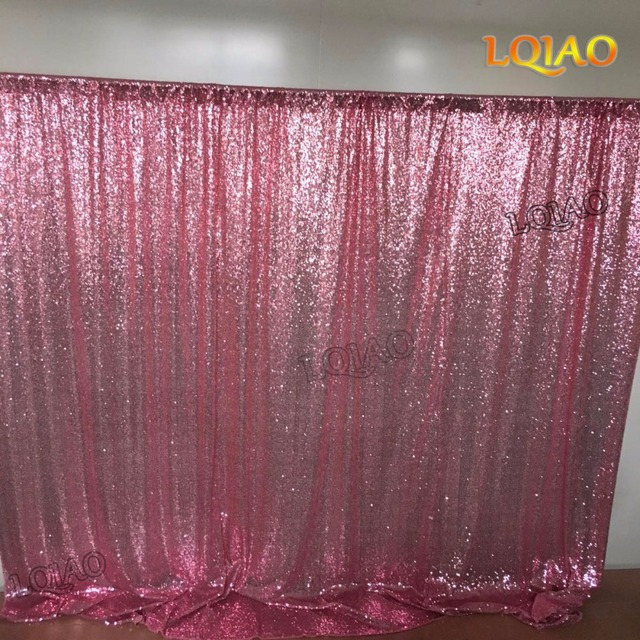 8x8ft Pink Gold Sequin Backdrop Photo Booth Curtain Shimmer Sequin Fabric  Photography Wedding Image Decoration