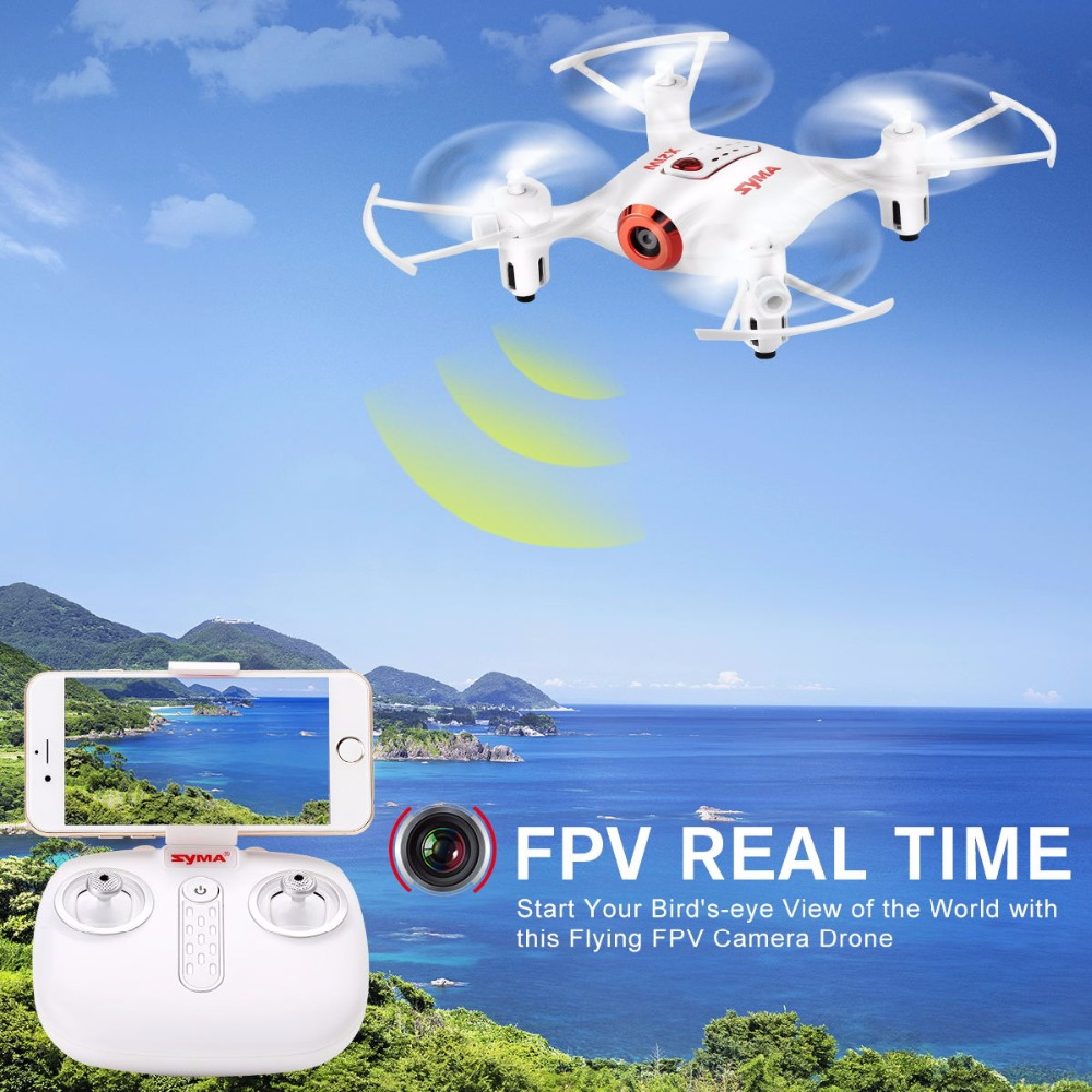 Syma X21W RC Helicopter Mini Drone With Camera WIFI FPV Real Time Transmission RC Quadcopter Pocket Quadrocopter Aircraft Drones