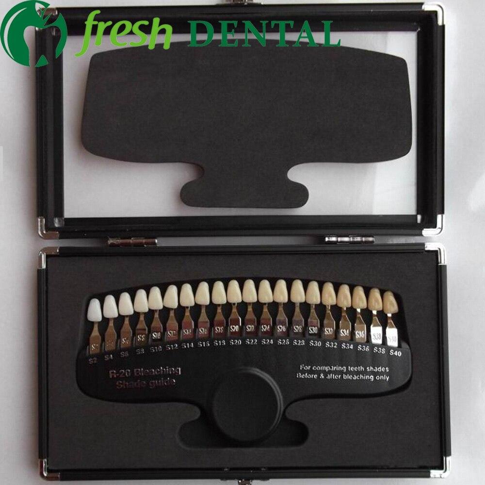 1 PC dentaire dents blanchissant ombre guide dentaire 3D porcelaine Pan classique 20 couleurs ombre Guide avec miroir dentaire dent TW102