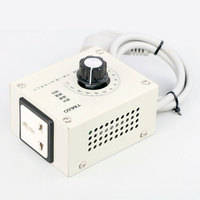 4000W Voltage Regulating Switch Silicon Controlled Voltage Regulator With Shell Attemperation Dimmer Adjust Speed 220V