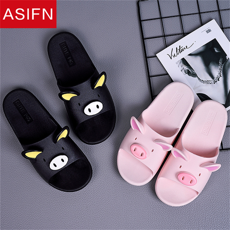 ASIFN Cute Pig Slippers Summer Men Slides Women Slippers Couple Lover Casual Bathroom Home Indoor Non-slip Female Solid 7 ColorsASIFN Cute Pig Slippers Summer Men Slides Women Slippers Couple Lover Casual Bathroom Home Indoor Non-slip Female Solid 7 Colors