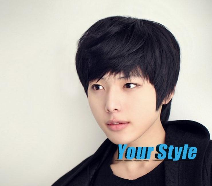 comprar moda chico corte pixie corta sinttica pelucas peinados coreanos masculino asitico negro cosplay peluca perruque peluca de cabello