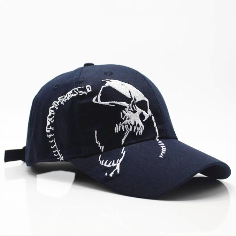 Skull embroidery baseball cap 3