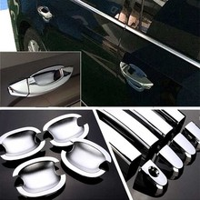 цена на High-quality For VW Passat 2011-2016 ABS Car Styling Chrome Side Door Handle Cover and Door Bowl Cover