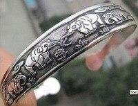 Preço de atacado 16new ^ ^ 10PC ^^^^ Tibetano Tibete Prata Totem Peixe Bangle Bracelet Cuff