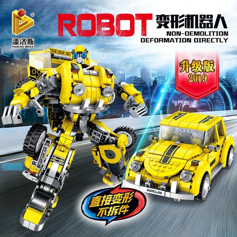 1033pcs Technic Model Blocks Anime Transformation Robot Set Building Blocks 2 In 1 Robot Car Toy for Boy Christmas Blocks     - title=