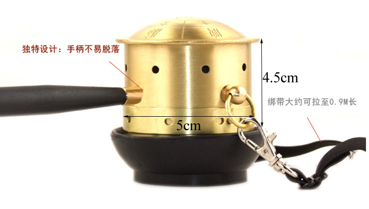 Copper Moxibustion Can Pot Body Massage Portable Warming Moxibustion Treatment Therapy Moxa Stick Burner Health Care Equipment health care massage moxibustion bar wen jiu portable moxa moxibustion natural stone hot compress tools