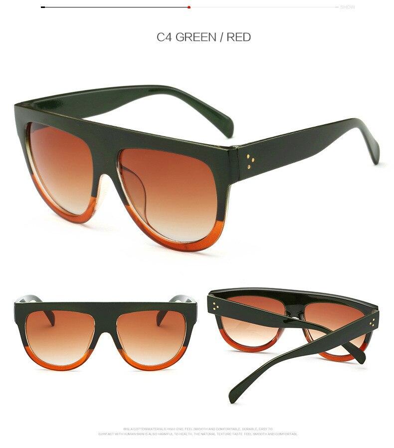 Oversize Retro Flat Top Cat Eye Glasses 6