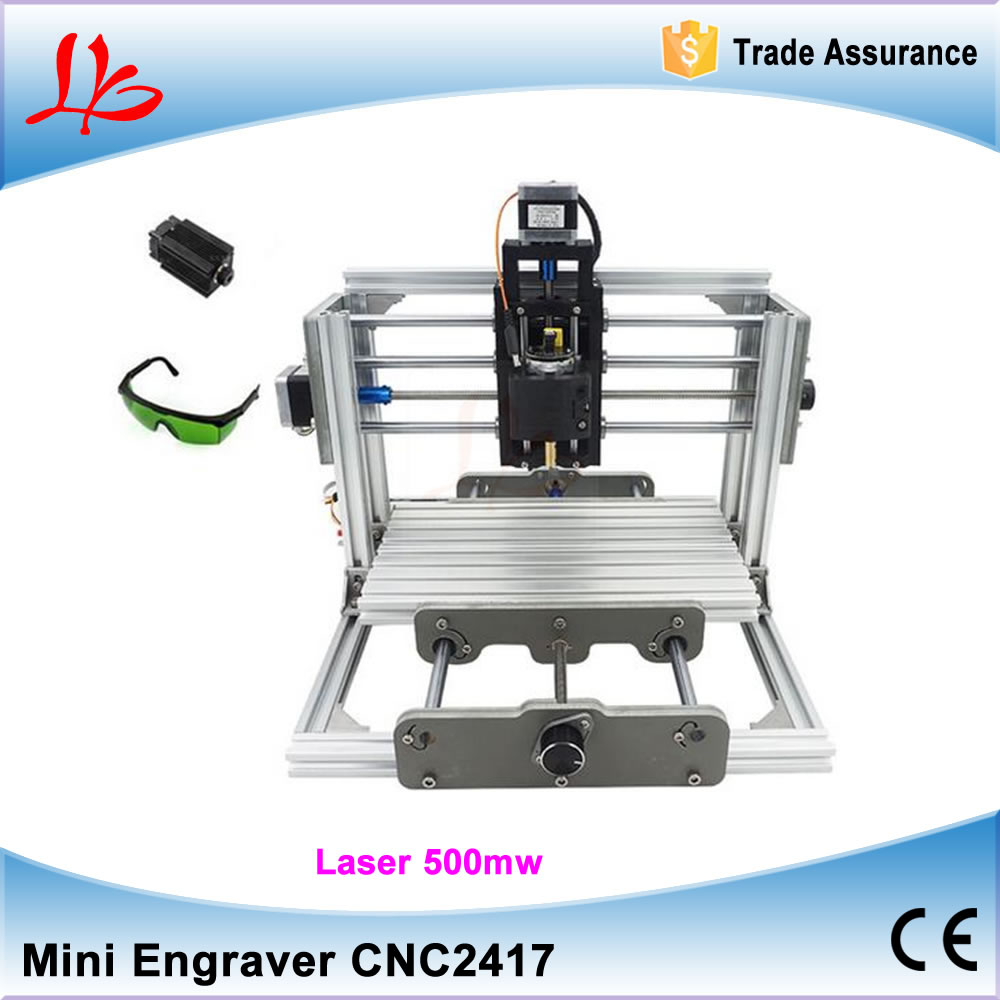 Disassembled pack mini CNC 2417 + 500mw laser CNC engraving machine Pcb Milling Machine Wood Carving machine diy mini cnc router cnc 2417 500mw laser grbl control diy cnc engraving machine mini pcb pvc milling machine metal wood carving machine cnc2417