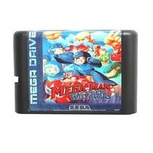Sega MD карточная игра-Mega Man Хитрый Войн для 16 бит Sega MD игра Картридж Megadrive Genesis system