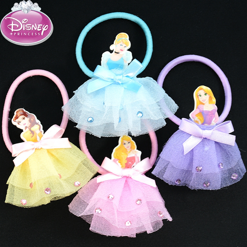 Disney Princess Fashion Kids Rubber Headbands Soft Fabric Cartoon Baby Girls Headwear Hair accessories Hair Elastic Hair Bands цены онлайн
