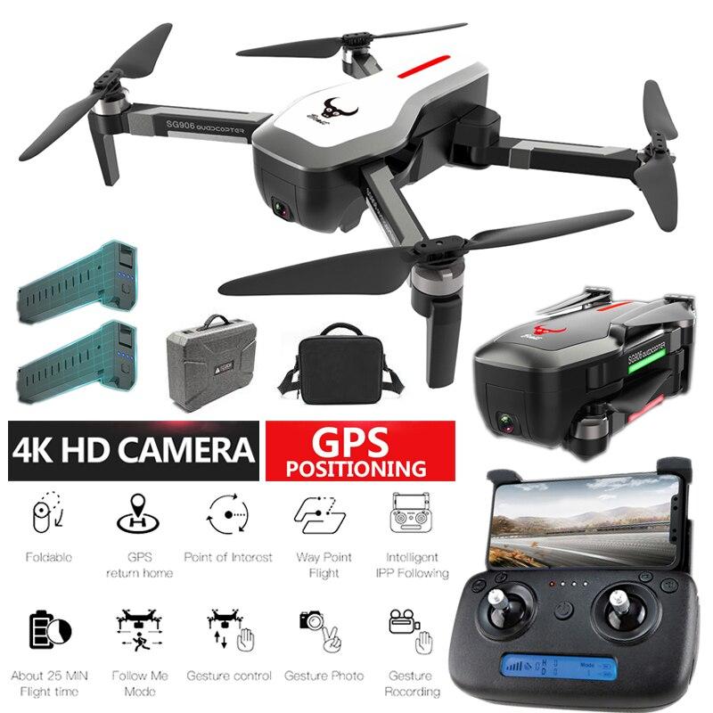 10 Jours En France SG906 Drone GPS 4k Caméra Angle Réglable 800 Mètres Moteur Brushless Image GPS Suivez-moi Point Fix Surround Tap Tap Flight Quadcopter