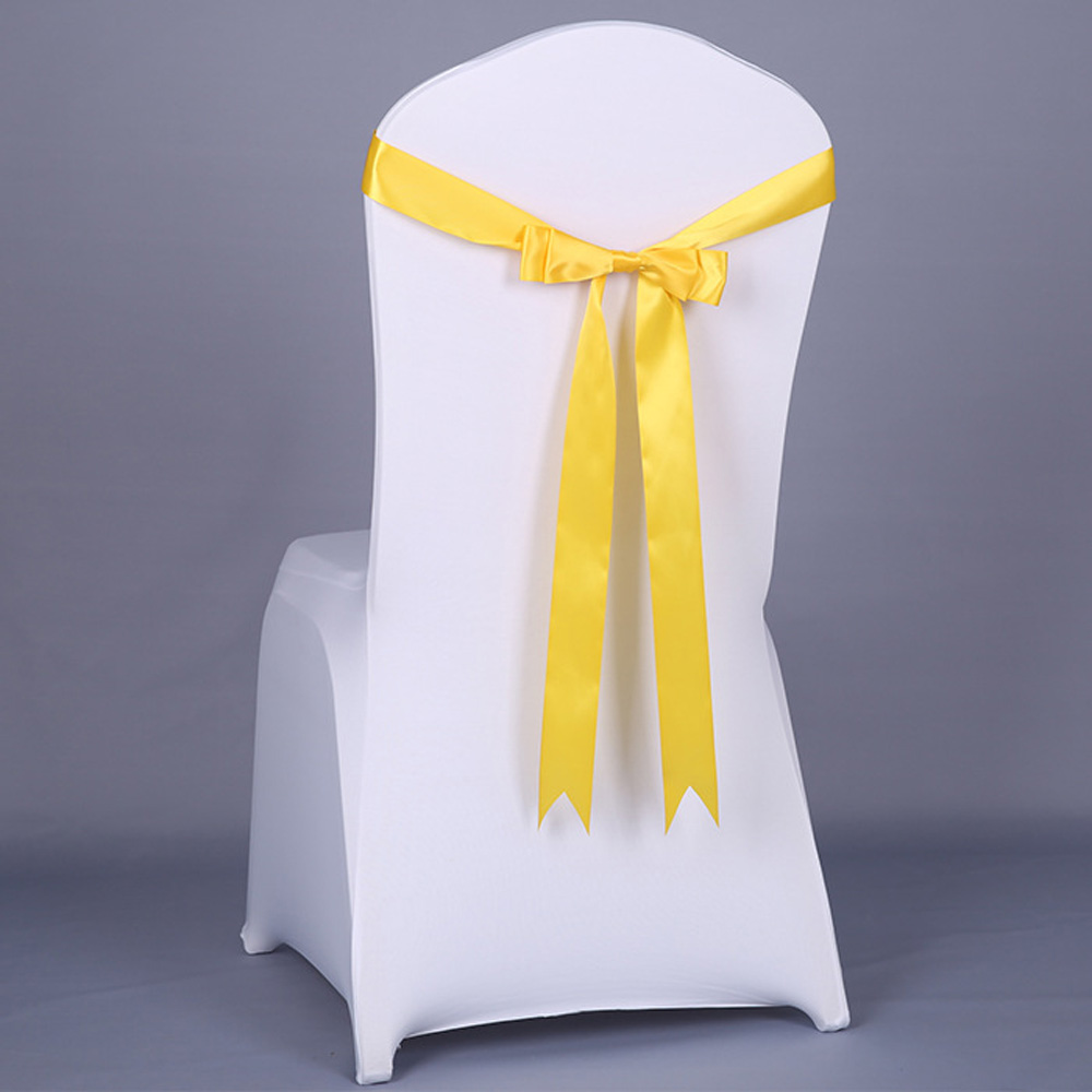 20pcs Hotel Decorative Silk Ribbon Chair Sash Wedding Party Banquet Decorative Bow Tie Chair Bands Restaurant Chair Decoration tipi tent kinderkamer
