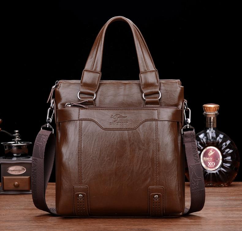 ZYJ Men\`s Business Leather Shoulder Laptop Briefcase Bags Sling Travel Messenger Portfolio Bag Causal Bolsa Lawer Handbag (45)