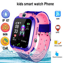 Q12 Smart Phone Watch for Children Student Smartwatches 2019 New Waterproof WIFI+GPS Positioning With SIM Card SOS Call Sports(China)