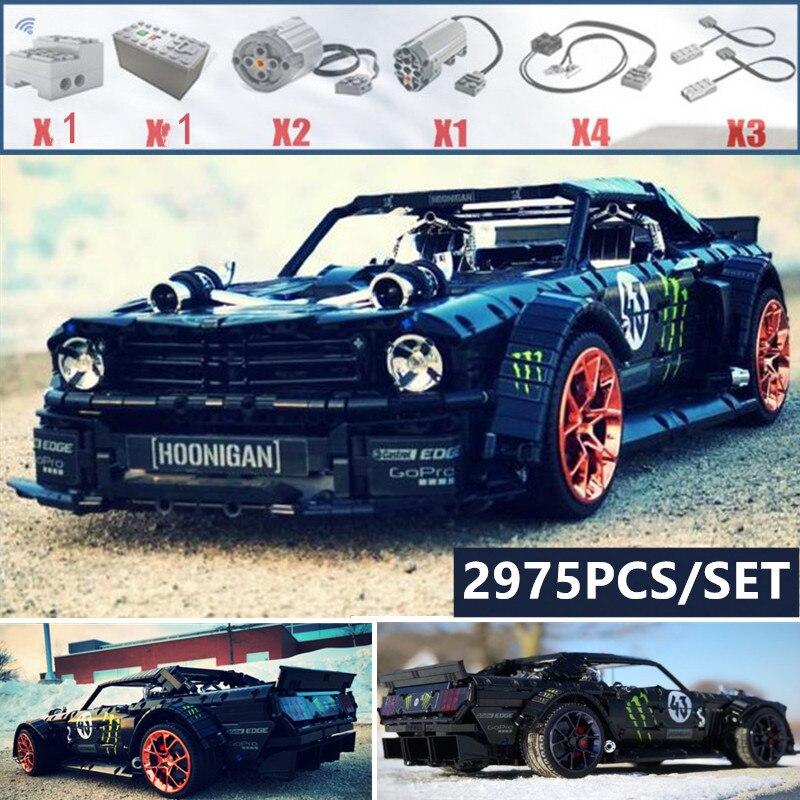 Novo Ford Mustang 1965 Hoonicorn Racing Car fit Técnica MOC-22970 compatível 20102 tijolos de blocos de construção criança brinquedos de presente