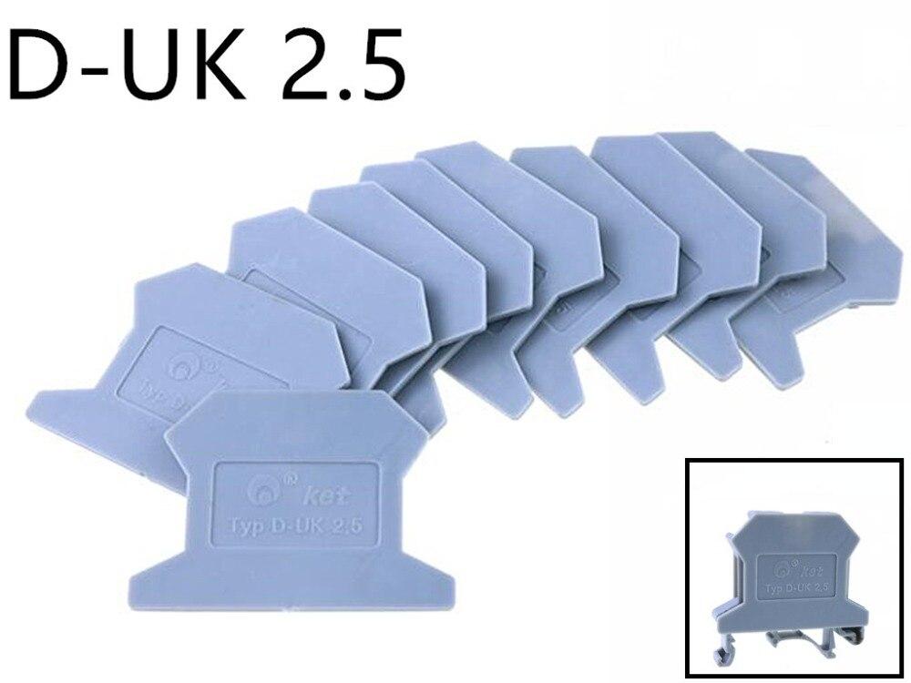 10pcs/lot D-UK2.5/1.5 END PLATE Din Rail Uneiversal screw type Terminal Blocks End Cap FREE SHIIPING apply to UK2.5B UK1.5N