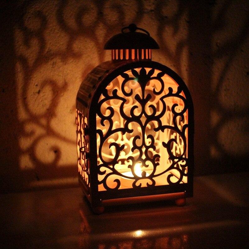 Marocain décor à la maison lanterne photophore suspendus lanterne Vintage chandeliers décoration de mariage